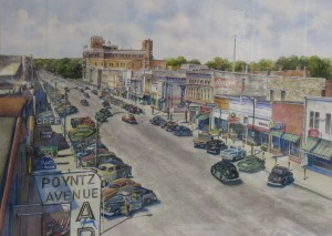 Ralph Fontenot 2008 Poyntz Avenue in downtown Manhattan, Kansas